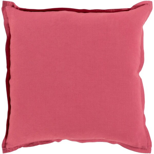 "18"" Solid Elegance Gala Pink Decorative Square Throw Pillow"