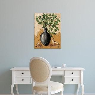 Easy Art Prints Jade Reynolds's 'Leaves & Pears' Premium Canvas Art