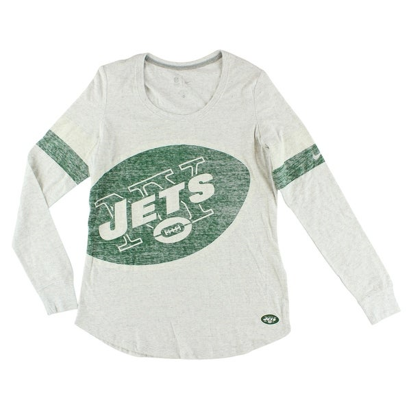Shop Nike Womens New York Jets NFL Take It Long Sleeve Shirt White -  White Green - xL - Free Shipping Today - Overstock.com - 22641437 f92185e512