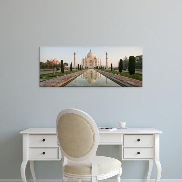 Easy Art Prints Panoramic Image 'Reflection of a mausoleum in water, Taj Mahal, Agra, Uttar Pradesh, India' Canvas Art