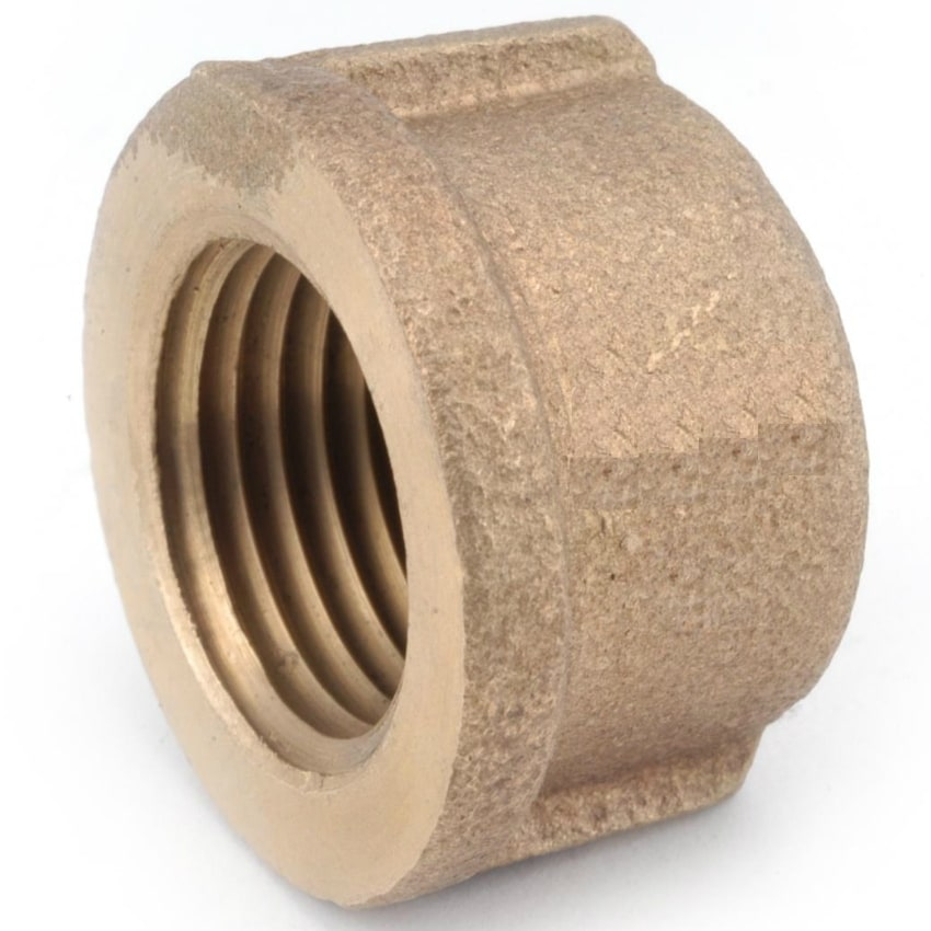 Anderson Metals 738108-06 Lead Free Pipe Cap, Rough Brass, 3/8