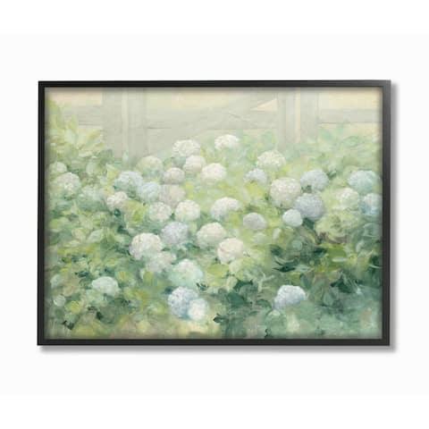 Stupell Industries Floral Blue White Hydrangea Garden Farmhouse Painting Framed Wall Art