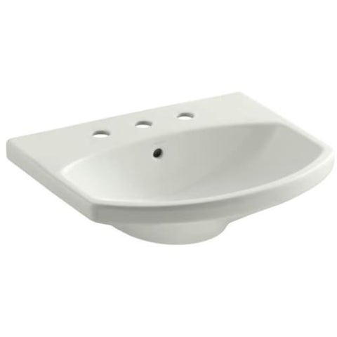 "Kohler k-2363-8 Cimarron 21"" Pedestal Bathroom Sink with 3 Holes Drilled and Overflow"