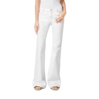 Michael Kors NEW White Gold Women's Size 2 Flare Leg Stretch Jeans