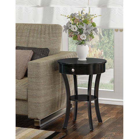 Copper Grove Round End Table with Drawer