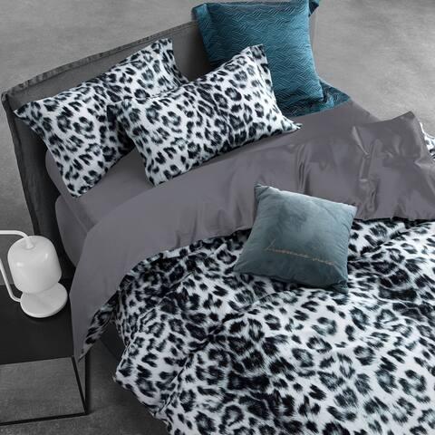 Melange Home 3D Digital Printed Show Leopard 3pcs Cotton Duvet Set