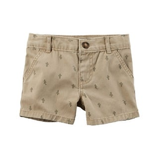 Carter's Baby Boys' Cactus Flat-Front Twill Shorts, 3 Months