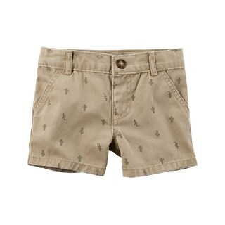 Carter's Baby Boys' Cactus Flat-Front Twill Shorts, 6 Months