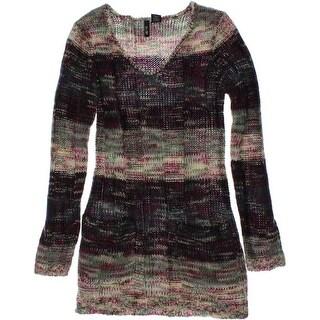 Ultra Flirt Womens Knit Marled Pullover Sweater - XS