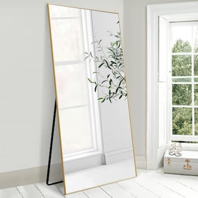 "71"" Large Floor Full Length Mirror Free Standing Metal Modern Frame"