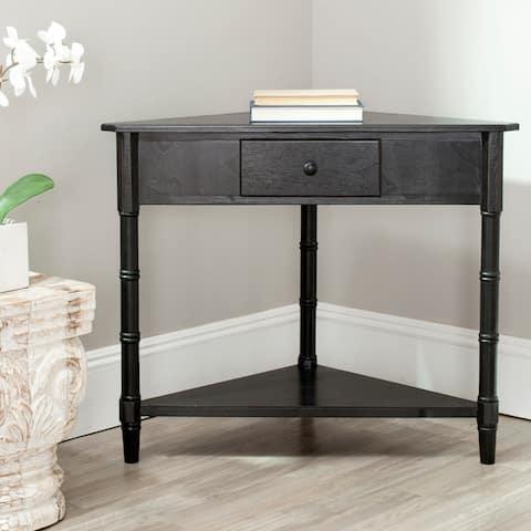 SAFAVIEH Gomez Black Corner Table
