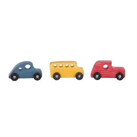 Set of 3 Colorful Classic Cars