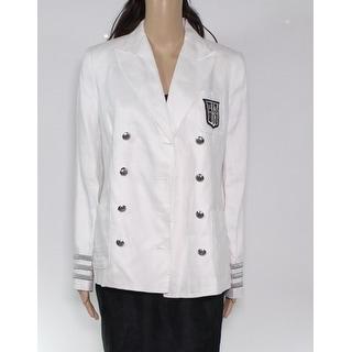 Lauren by Ralph Lauren Womens Jacket White Size 14 Basic Double Breast