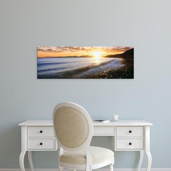 Easy Art Prints Panoramic Image 'Sunrise over sea, WindanSea Beach, La Jolla, San Diego County, California' Canvas Art