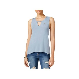 Rebellious One Womens Juniors Tank Top Jersey Embellished