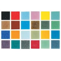 Mosaic Mercantile Authentic Glass Mosaic Tiles, 3/8 Inch, Assorted Colors, 3 Pounds