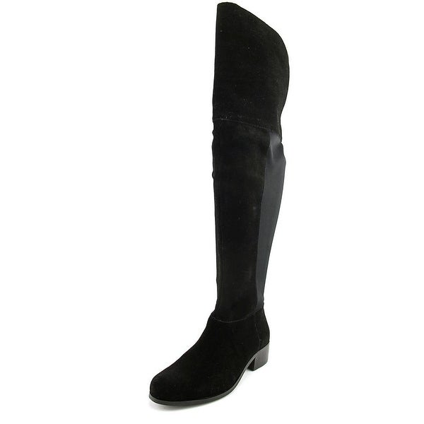 Charles By Charles David Giza Women Round Toe Suede Black Over the Knee Boot