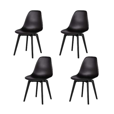 Porch & Den Tiedeman Molded Seat Dining Chairs (Set of 4)