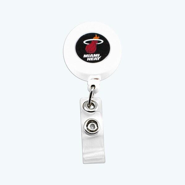 Miami Heat Retractable Badge Reel Id Ticket Clip