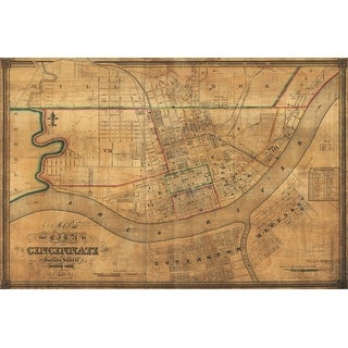 Cincinnati, Ohio - (1838) - Panoramic Map (Playing Card Deck - 52 Card Poker Size with Jokers)