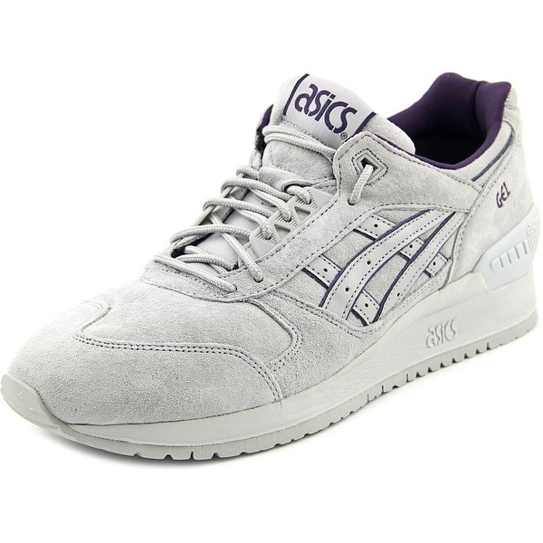 Asics Gel Respector Men Round Toe Suede Gray Sneakers