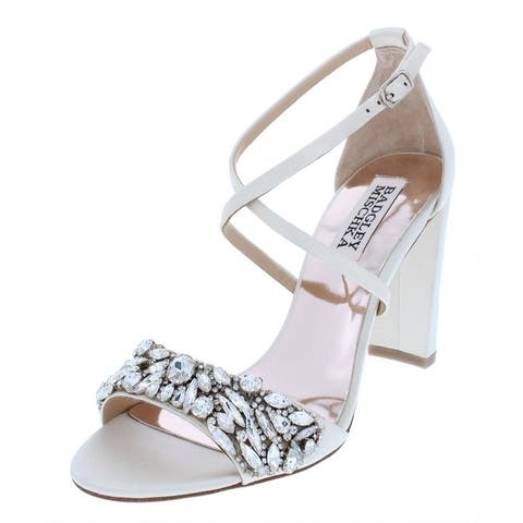 5df60645b Badgley Mischka Womens Harper Dress Sandals Solid Embellished