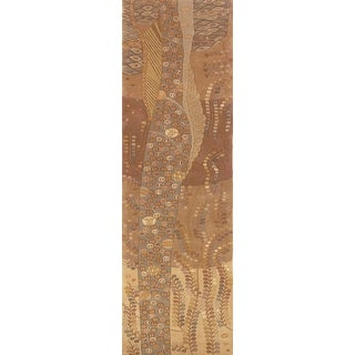 Momeni New Wave Beige Hand-Tufted and Hand-Carved Wool Runner Rug