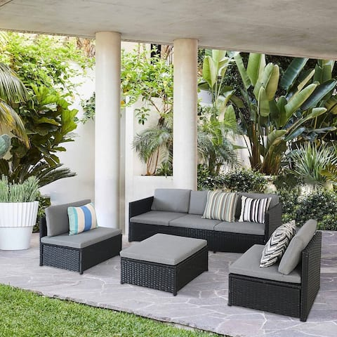 Outdoor Furniture Sectional 5-Seater Rattan Sofa Set