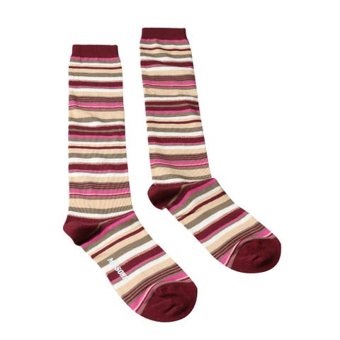 Missoni GM00CMD5219 0001 Green/Burgundy Boot Socks