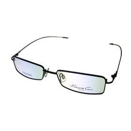 Kenneth Cole Mens Opthalmic Eyeglass Frame Black Rectangle Metal KC139 2