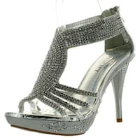 Delicacy Womens Delicacy-07 Dressy Pumps Sandals - Silver