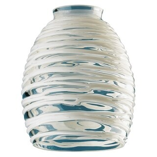 """Westinghouse 8131400 Clear with White Rope Glass Fitter, 2-1/4"""""""
