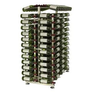 VintageView IDR4-EC 24-Bottle 4-Foot Island Display Rack Endcap - N/A