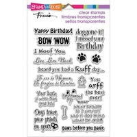 """Stampendous Perfectly Clear Stamps 4""""X6""""-Dog Sayings"""