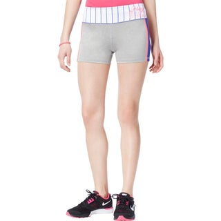 Material Girl Womens Juniors Athletic Shorts Colorblock Striped - M