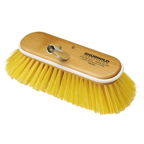Shurhold 10 deck brush medium yellow polystyrene
