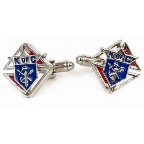 Knights Of Columbus Silvertone Cufflinks