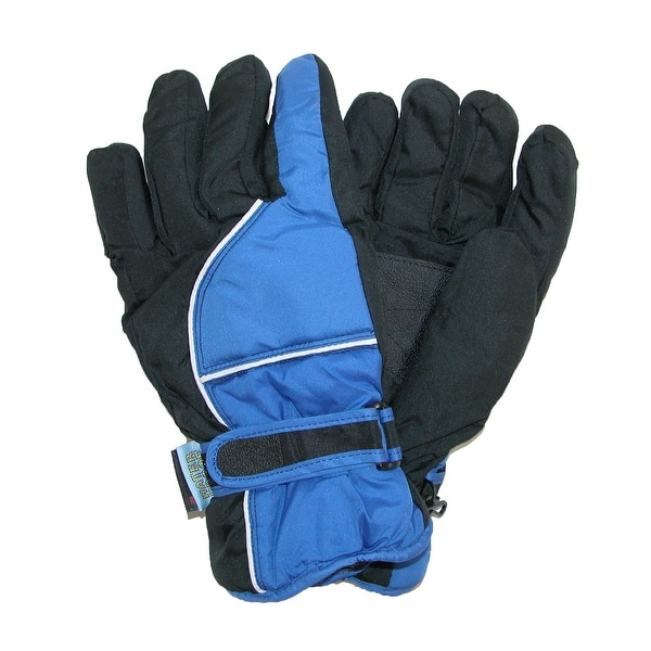 CTM® Men's Waterproof Ski Gloves with Contrast Piping