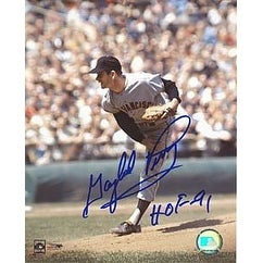 Gaylord Perry signed San Francisco Giants 8x10 Photo HOF91