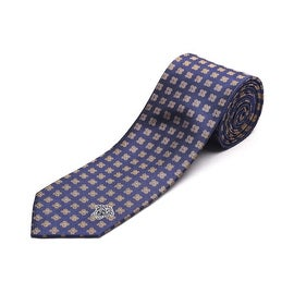 Versace Men's Medusa Head Slim Silk Neck Tie Navy Blue/Yellow