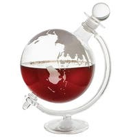 What on Earth Aerating  Glass Decanter - Rotating Globe Design for Wine Whiskey or Liquors - 10 in. x 9 in. x 6.25 in.
