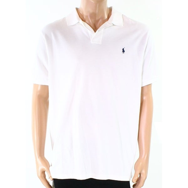 2f3079bc Shop Polo Ralph Lauren NEW White Mens Size 2XL Custom Solid Logo Polo Shirt  - Free Shipping On Orders Over $45 - Overstock.com - 19797551