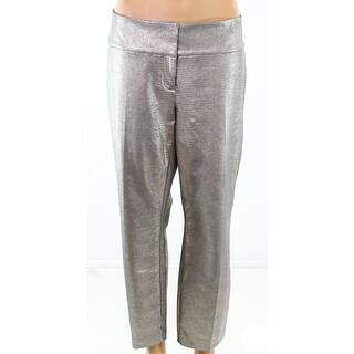 Alfani NEW Phyton Foil Beige Womens Size 10 Metallic Two-Pocket Pants https://ak1.ostkcdn.com/images/products/is/images/direct/69b8c6b6637f47c88bc9674e07ccff93f30922d3/Alfani-NEW-Phyton-Foil-Beige-Womens-Size-10-Metallic-Two-Pocket-Pants.jpg?impolicy=medium