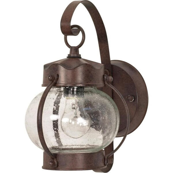 """Nuvo Lighting 60/631 1-Light 10-5/8"""" Tall Outdoor Wall Sconce with Seedy Glass Shade - Old Bronze - N/A"""