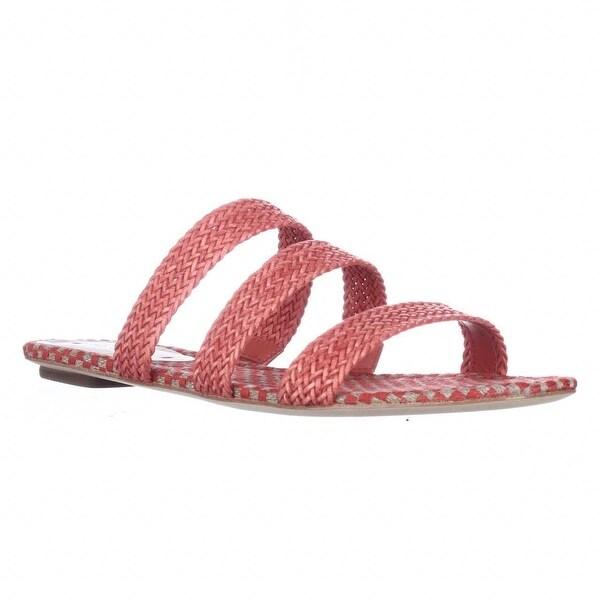 Via Spiga Ilaria Woven Flat Slide Sandals, Red Pepper - 6.5 us / 37 eu