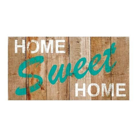 "Bacova 14117P6 Home Sweet Home Door Mat, Multi-Color, 30"" L x 18"" W"