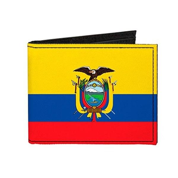 Buckle-Down Canvas Bi-fold Wallet - Ecuador Flag Accessory