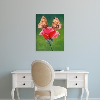 Easy Art Prints Fred Szatkowski's 'Sharing a Rose' Premium Canvas Art