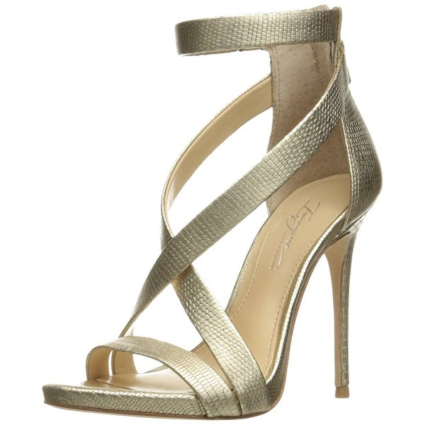 Imagine Vince Camuto Devin2 Leather Embossed Crisscross High Heel Sandals