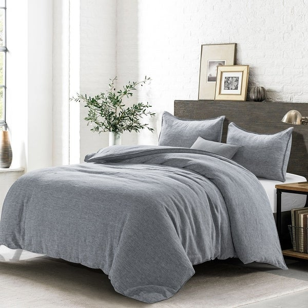 Wholelinens Linen Chambray Duvet Cover Set. Opens flyout.